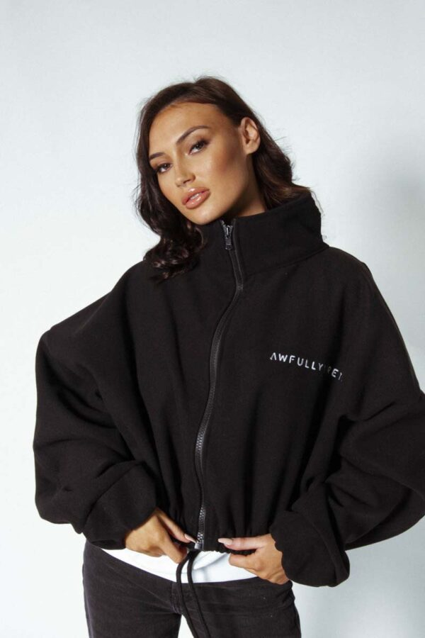 Black Awfully Pretty A\P oversized jacket #allblackeverything