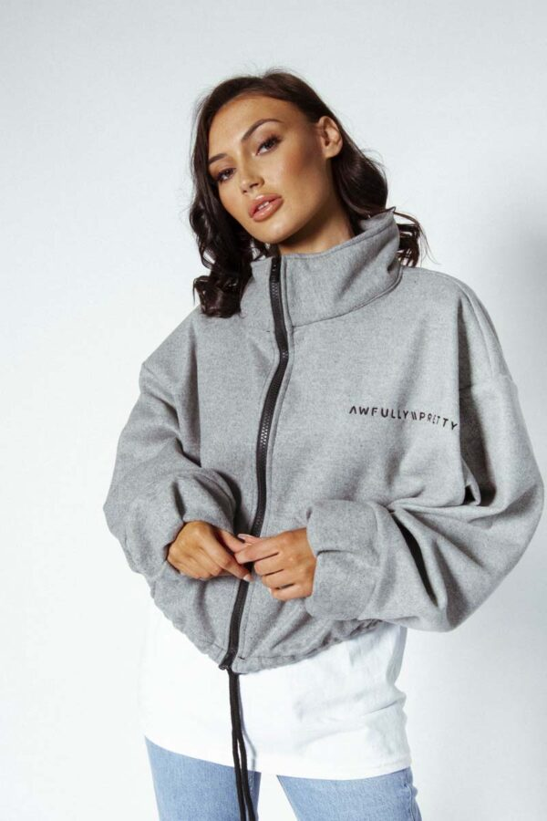 grey Awfully Pretty A\P oversized jackets - Feel the youth collection, lets start with the logo collection