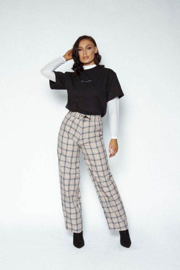 Burberry check trousers