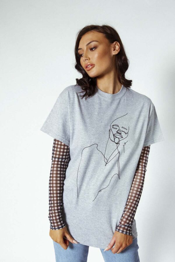 Face me oversized tshirt grey 154 600x900 - Face Me T-shirt