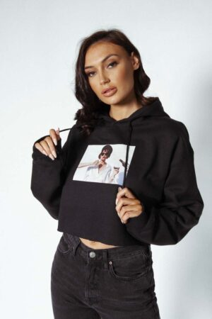 Feels black cropped hoody - Feel the youth