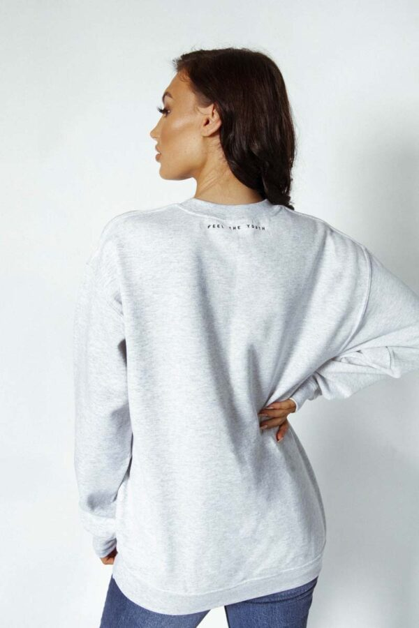 Feels sweater grey - Feel the youth - Graphic oversized sweater / sweater dress