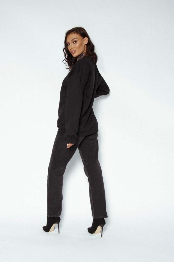 Black Awfully Pretty Log sweater - lets start with the logo