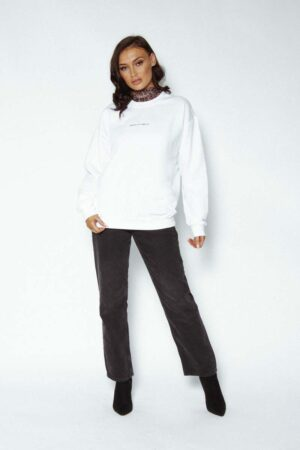 White Awfully Pretty logo sweater - Let's start with the logo