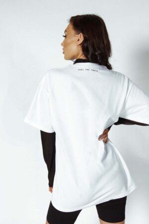 What rules graphic white tshirt - Feel the youth