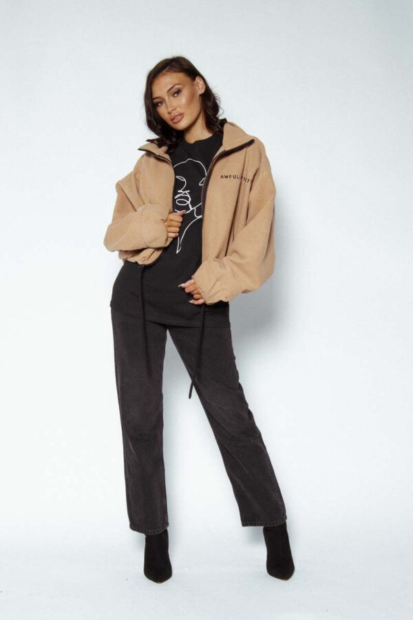 Awfully Pretty Let's Start With the Logo Camel Jacket