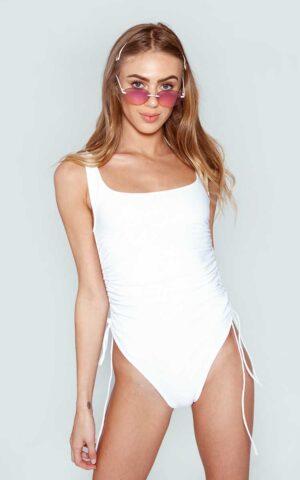 AP ECOM 154 300x480 - Gathered White Swimsuit