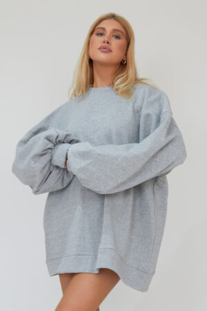 Awfully Pretty0007 2 300x450 - Oversized Jumper Dress in Grey