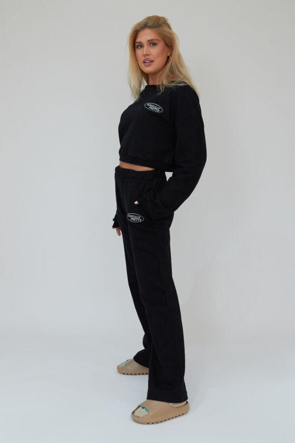 Awfully Pretty0025 1 600x900 - AP Oval Straight Jogger In Black