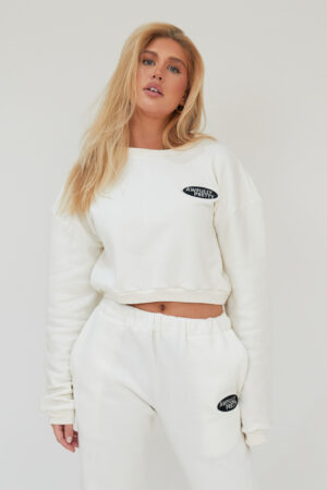 Awfully Pretty0026 300x450 - AP Oval Cropped Sweatshirt in Ecru