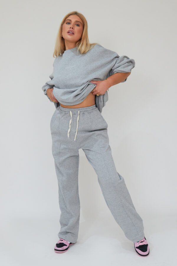 Awfully Pretty0035 2 600x900 - Pintuck Straight Joggers in Grey