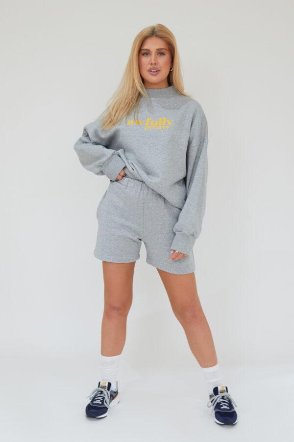 Awfully Pretty0044 1 600x900 - AP Contrast Shorts in Grey