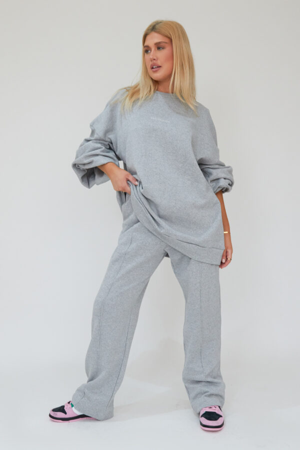 Awfully Pretty0057 2 600x900 - Pintuck Straight Joggers in Grey