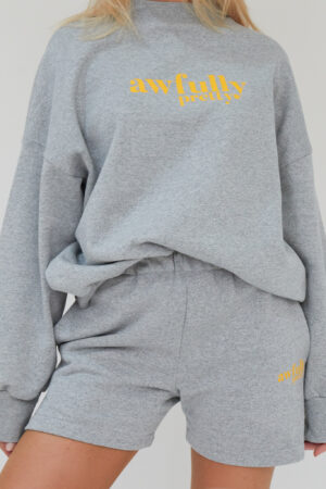Awfully Pretty0064 1 300x450 - AP Contrast Shorts in Grey