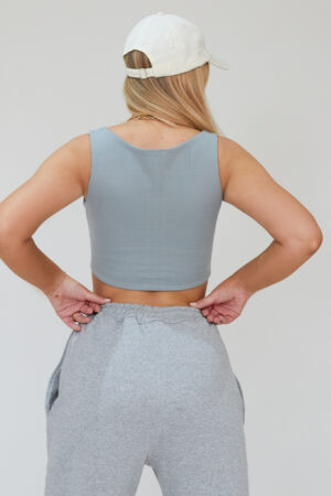 Awfully Pretty0092 2 300x450 - Cut Out Tie Crop in Grey