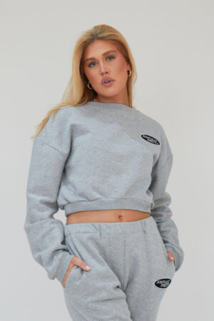 Awfully Pretty0101 300x450 - AP Oval Cropped Sweatshirt in Grey