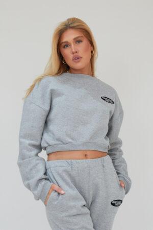Awfully Pretty0101 300x450 - AP Oval Cropped Sweatshirt in Grey