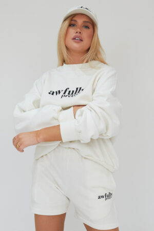 Awfully Pretty0108 1 300x450 - AP Contrast Sweatshirt in Ecru