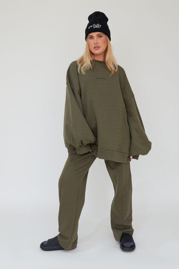 Awfully Pretty0154 2 600x900 - Pintuck Straight Joggers in Khaki