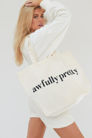 Awfully Pretty0171 300x450 - AP Tote in Ecru/Black