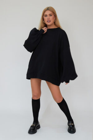 Awfully Pretty0206 1 300x450 - Oversized Jumper Dress in Black