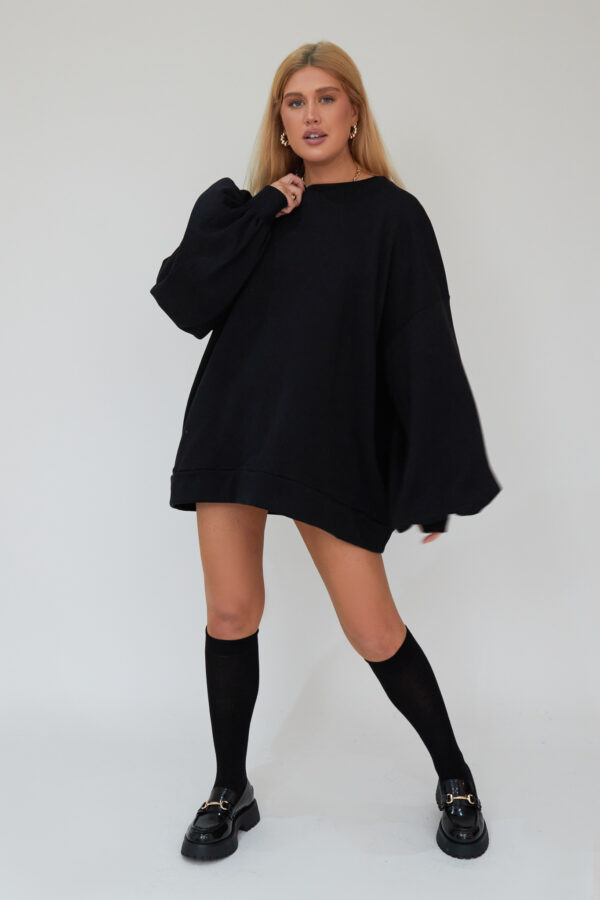 Awfully Pretty0206 1 600x900 - Oversized Jumper Dress in Black