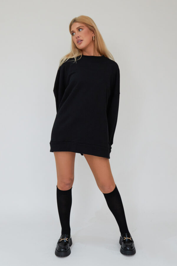 Awfully Pretty0212 1 600x900 - Oversized Jumper Dress in Black