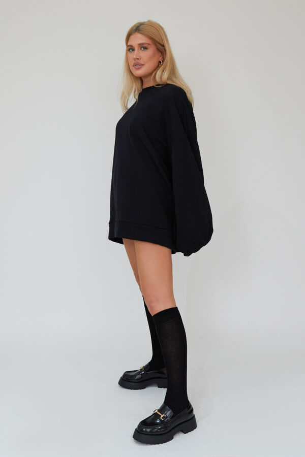 Awfully Pretty0216 1 600x900 - Oversized Jumper Dress in Black