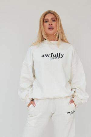 Awfully Pretty0219 300x450 - AP Contrast Sweatshirt in Ecru