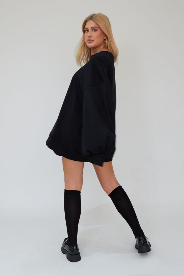 Awfully Pretty0223 1 600x900 - Oversized Jumper Dress in Black
