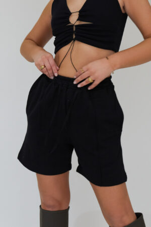Awfully Pretty0230 1 300x450 - Pintuck Shorts in Black