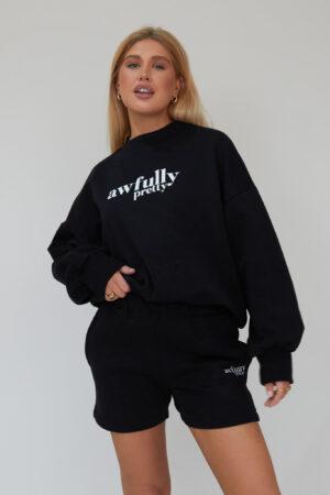 Awfully Pretty0247 300x450 - AP Contrast Sweatshirt in Black