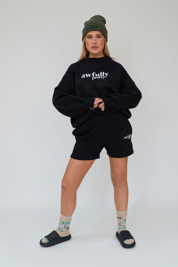 Awfully Pretty0262 600x900 - AP Contrast Sweatshirt in Black