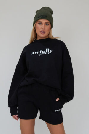 Awfully Pretty0264 300x450 - AP Contrast Sweatshirt in Black