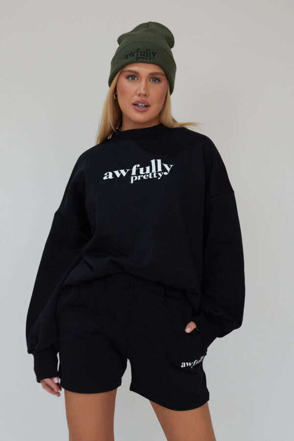 Awfully Pretty0264 600x900 - AP Contrast Sweatshirt in Black