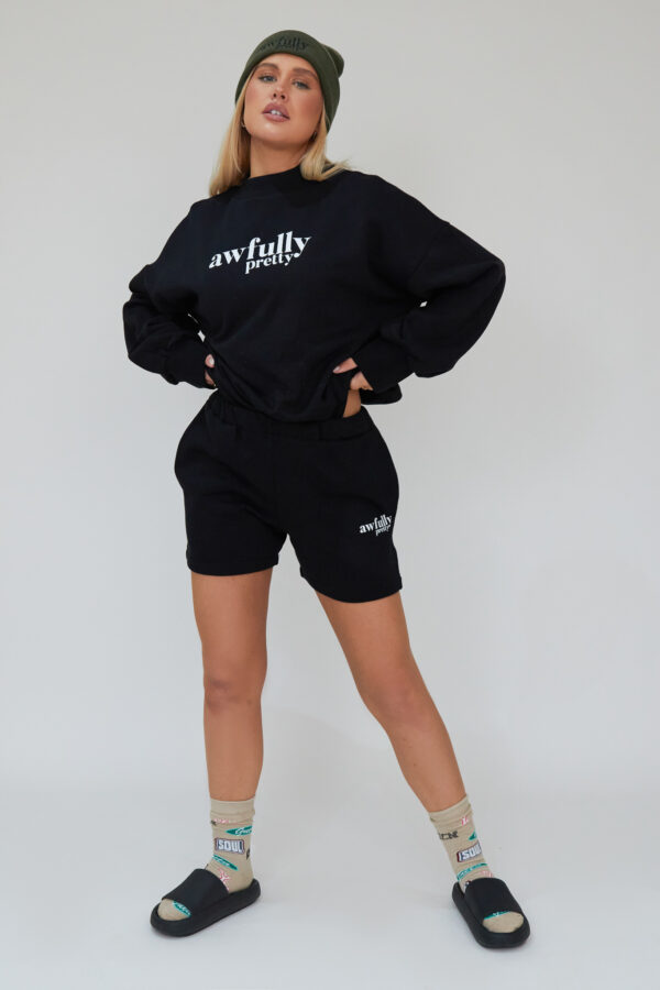 Awfully Pretty0266 600x900 - AP Contrast Sweatshirt in Black