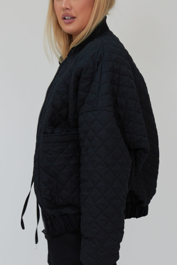 Awfully Pretty0268 1 600x900 - Quilted Bomber Jacket in Black
