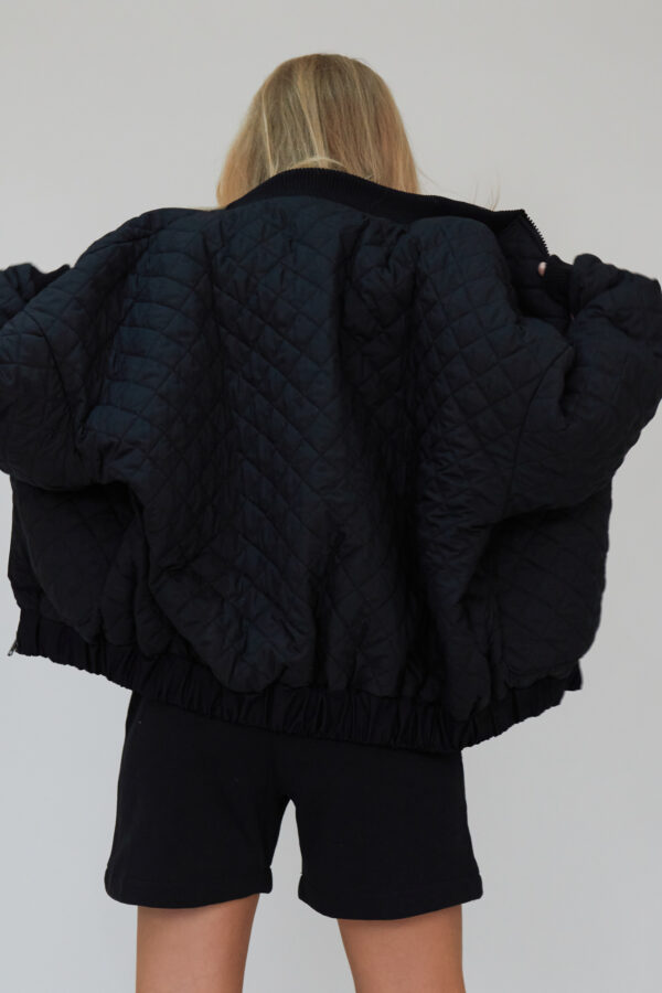 Awfully Pretty0278 1 600x900 - Quilted Bomber Jacket in Black