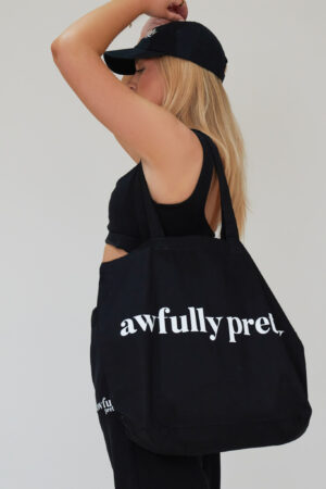 Awfully Pretty0306 300x450 - AP Tote in Black/White