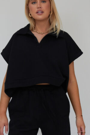 Awfully Pretty0320 1 300x450 - Oversized Polo Vest in Black
