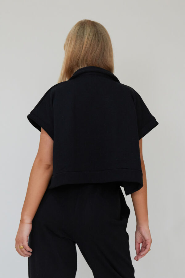 Awfully Pretty0330 1 600x900 - Oversized Polo Vest in Black