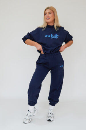 Awfully Pretty0361 300x450 - AP Contrast Joggers in Navy