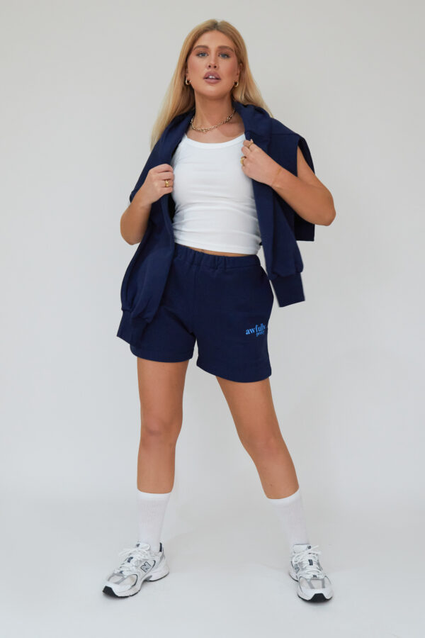 Awfully Pretty0377 600x900 - AP Contrast Shorts in Navy
