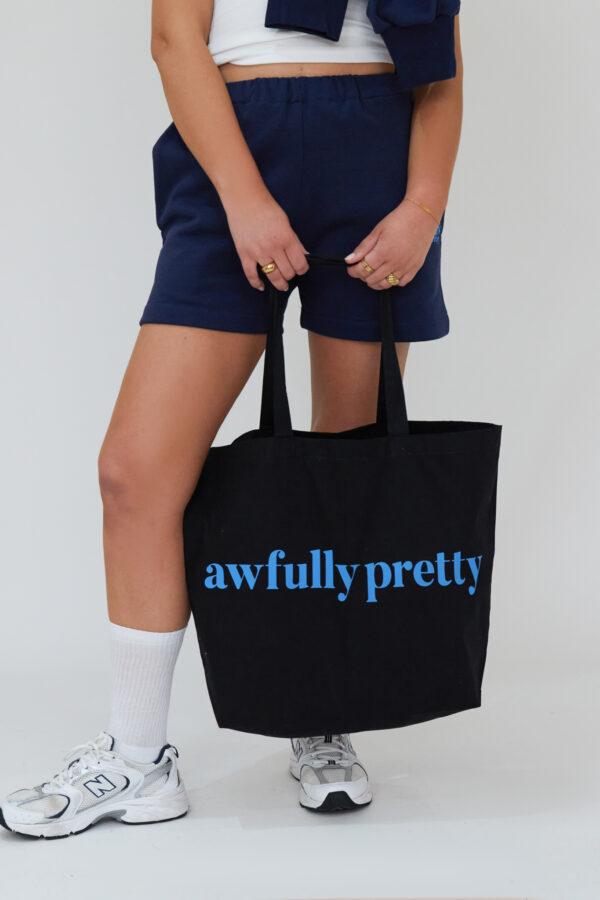 Awfully Pretty0424 600x900 - AP Tote in Black/Blue