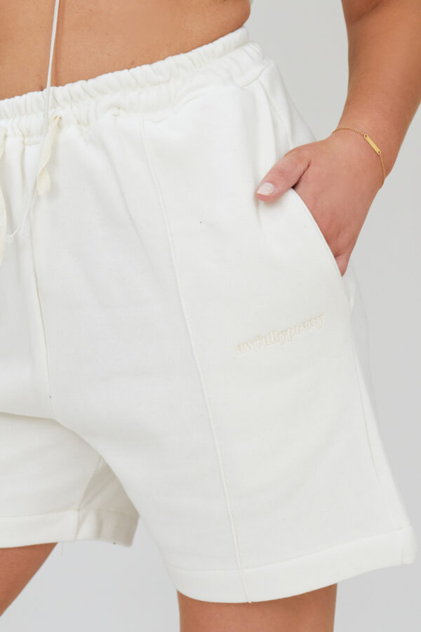Awfully Pretty0460 600x900 - Pintuck Shorts in Ecru
