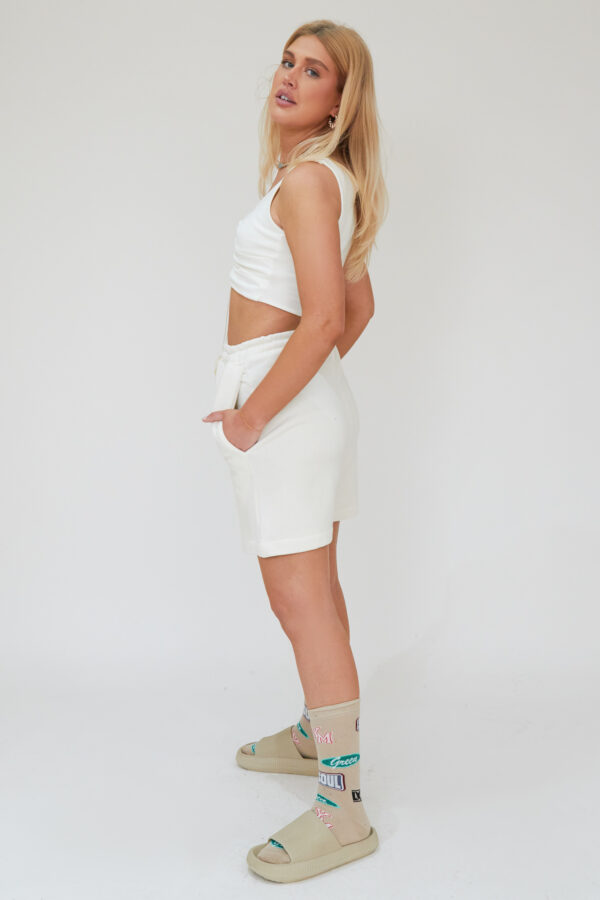 Awfully Pretty0465 1 600x900 - Pintuck Shorts in Ecru