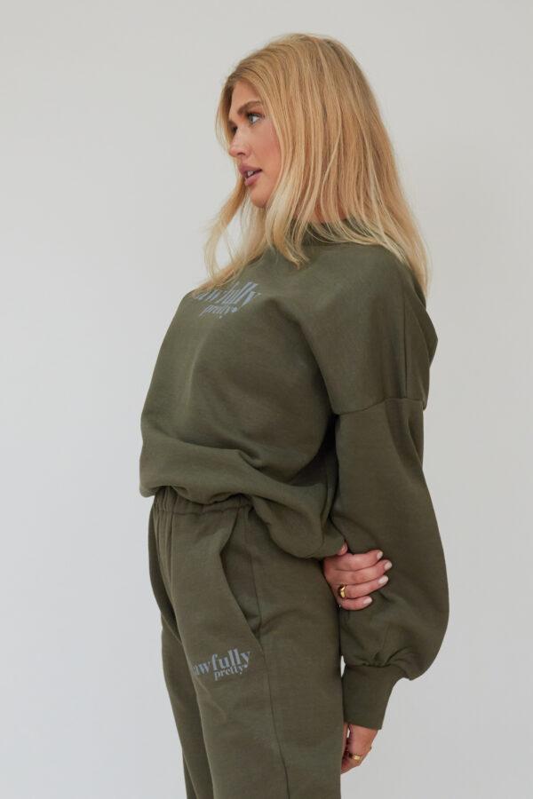 Awfully Pretty0475 600x900 - AP Contrast Sweatshirt in Khaki