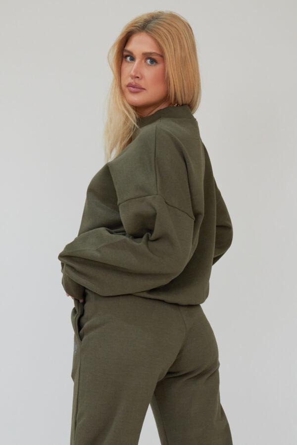 Awfully Pretty0482 600x900 - AP Contrast Sweatshirt in Khaki