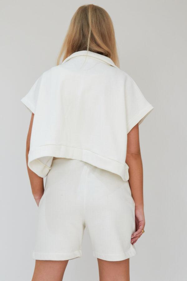 Awfully Pretty0484 1 600x900 - Oversized Polo Vest in Ecru