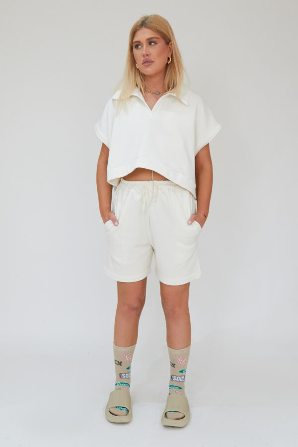 Awfully Pretty0490 1 600x900 - Oversized Polo Vest in Ecru